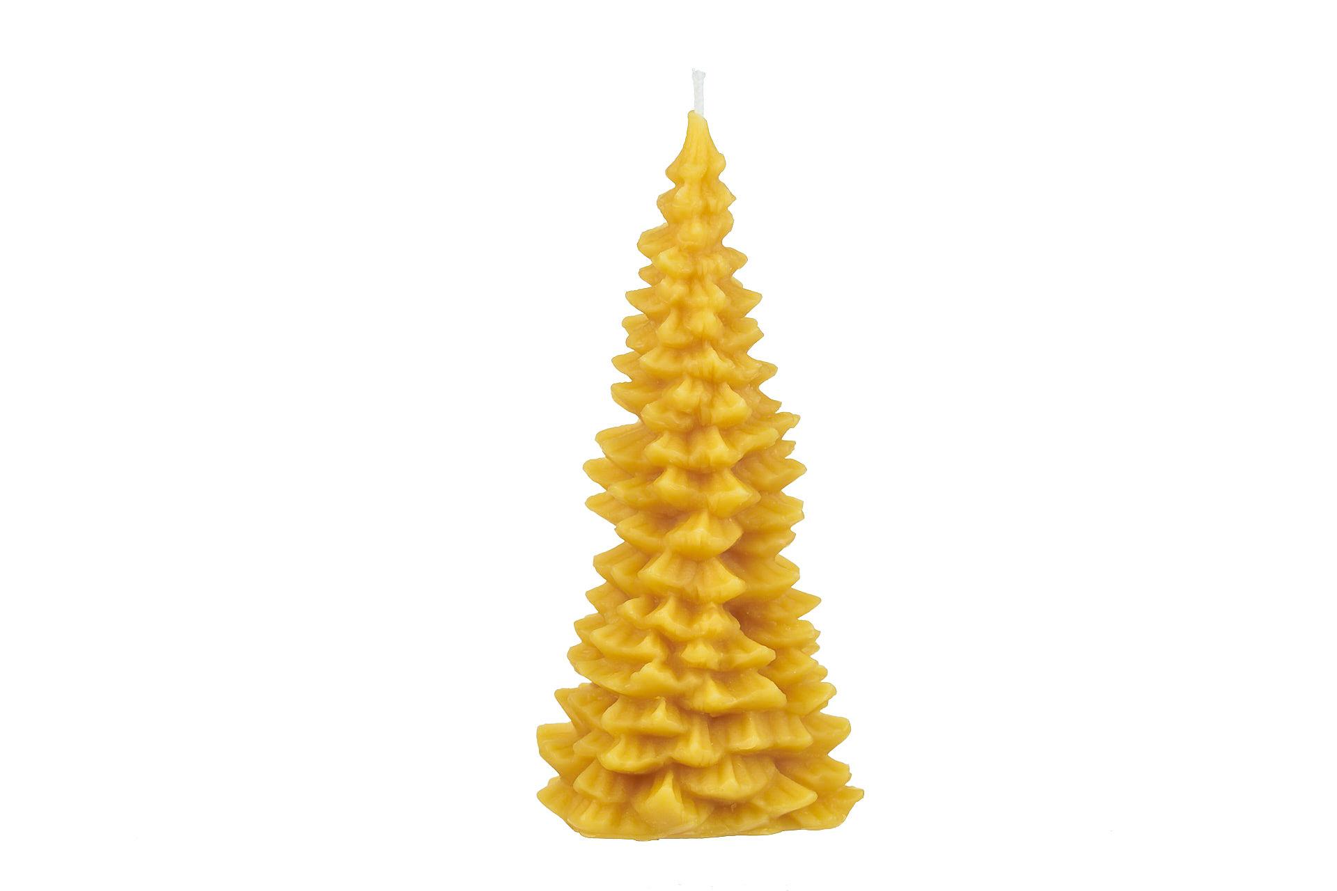Großer schlanker Tannenbaum (Höhe ca. 16cm) aus 100% Bienenwachs vom Imker