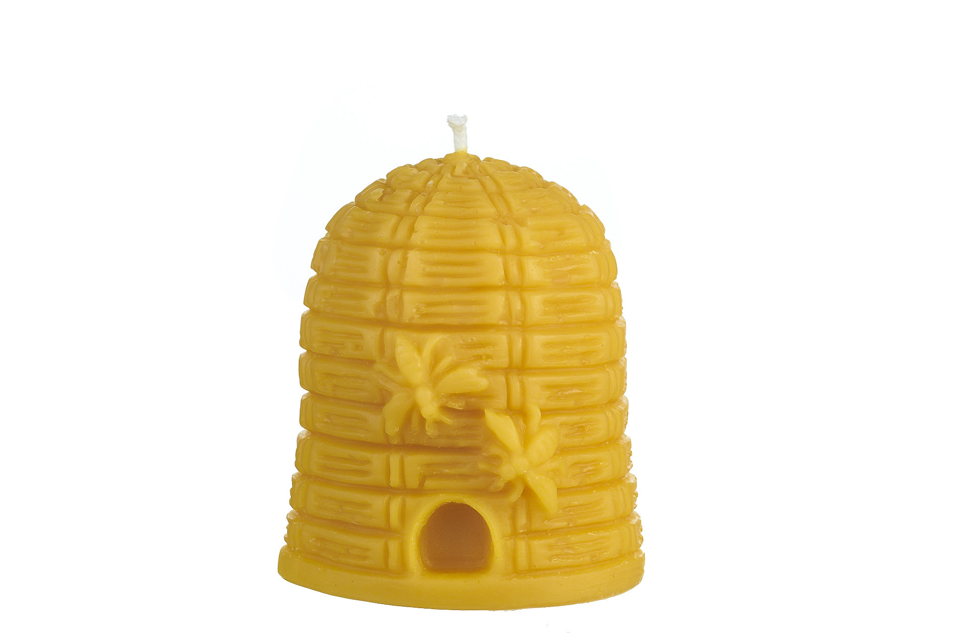 Bienenkorb groß (Höhe ca. 9cm) aus 100% Bienenwachs vom Imker