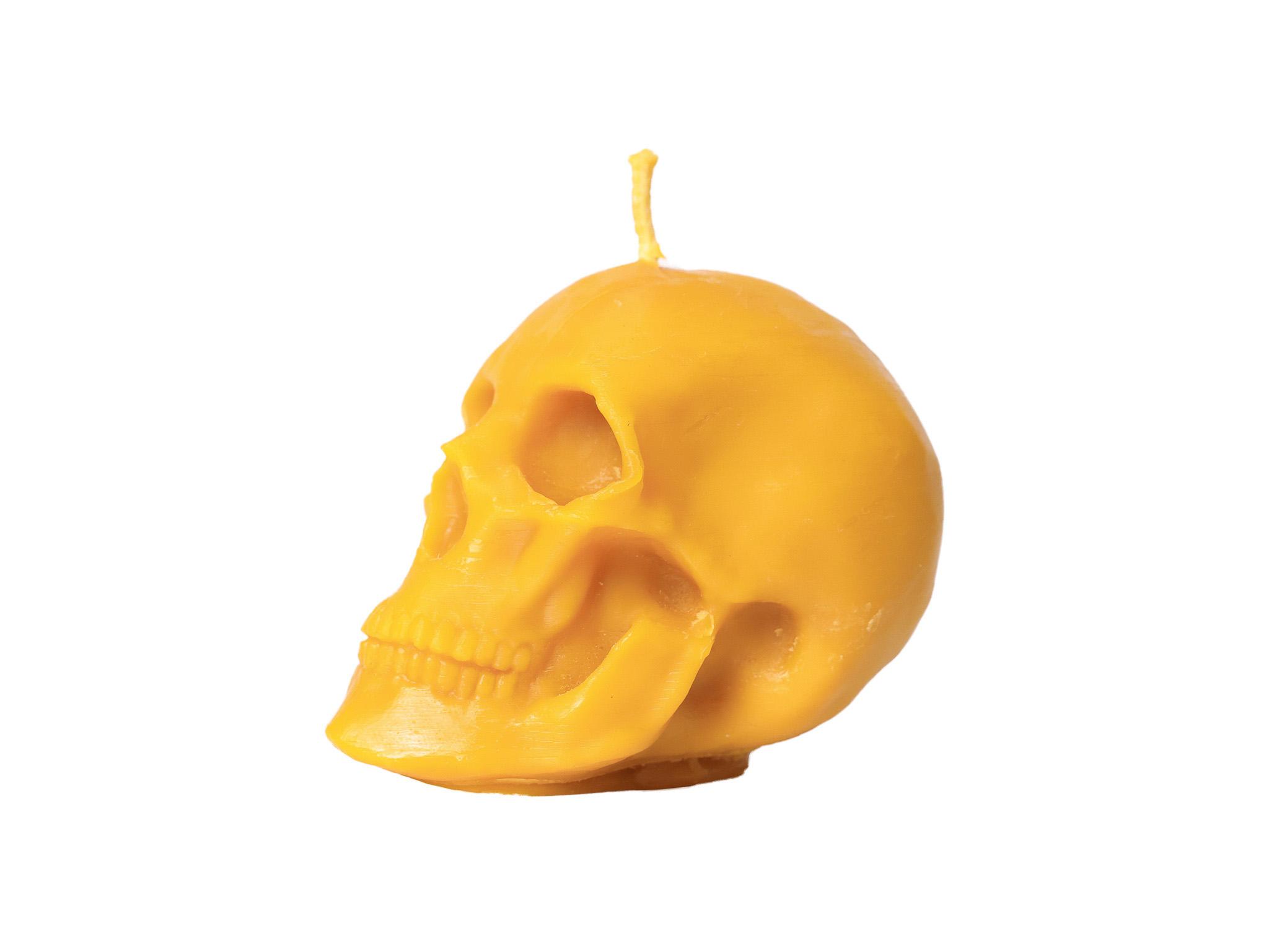 Totenkopf groß (Höhe ca. 11,5cm) aus 100% Bienenwachs vom Imker Halloween
